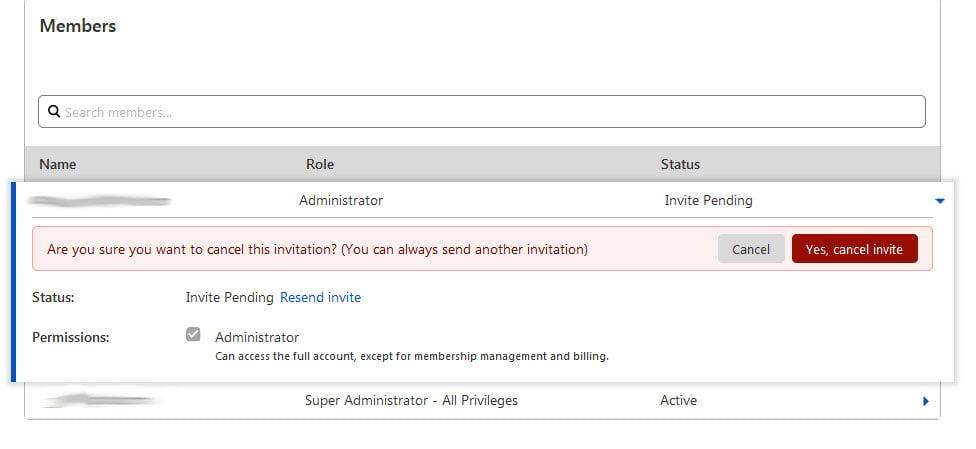 Cloudflare confirm cancel invitation