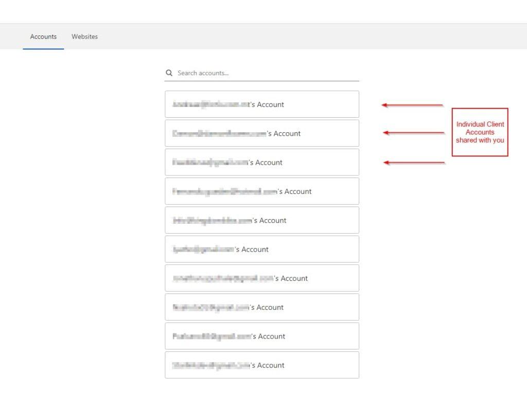 cloudlfare manage shared accounts