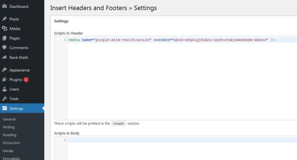 add meta tag to wordpresss